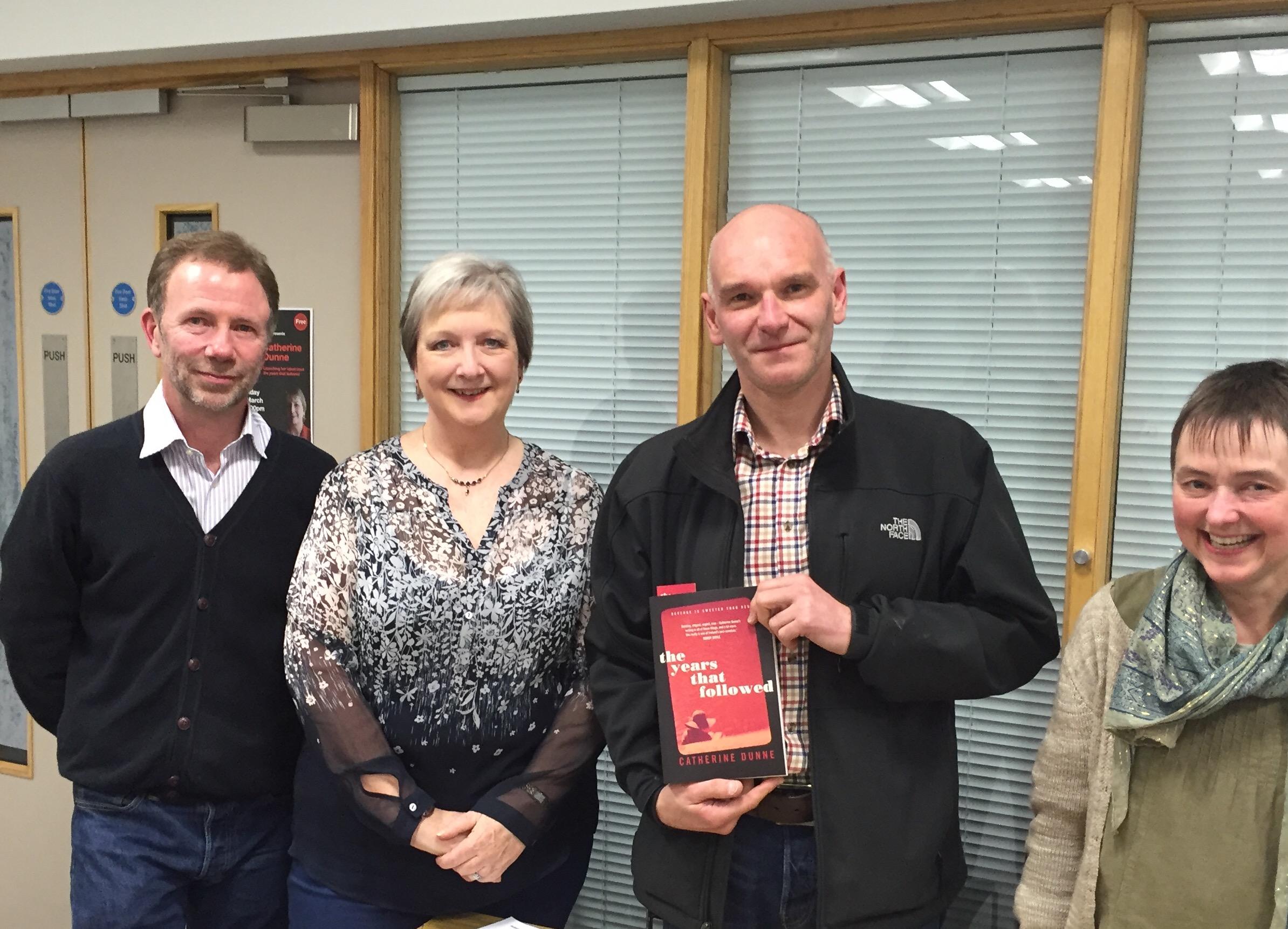 The Years that Followed / Un Terribile Amore - Nord Irlanda - Carrickfergus Launch 4 David Torrens + Claudia of No Alibis Bookshop David Adamson of Macmillan on left